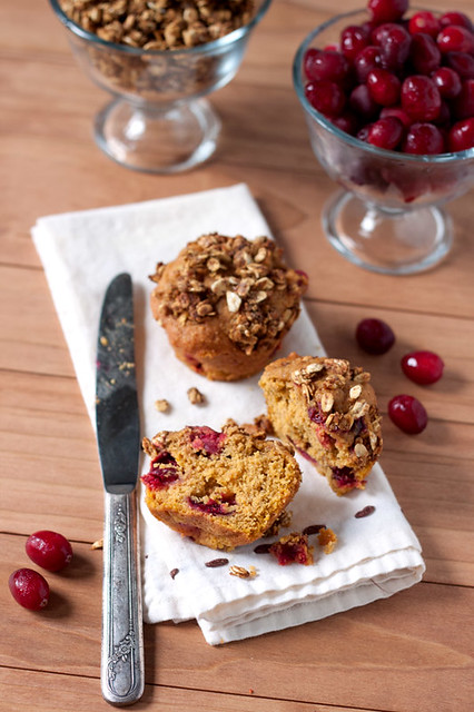 Pumpkin Cranberry Crunch Muffins