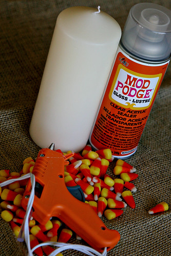 Candy Corn Candle 1