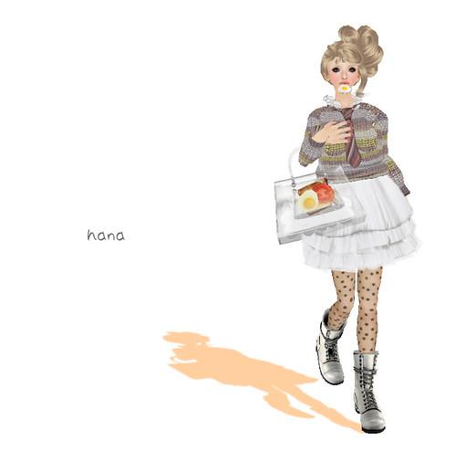 bonne chance! romi skirt White