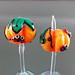 Earring Pair : Pumpkin farm