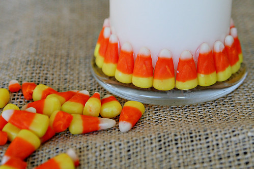Candy Corn Candle 8