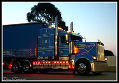 Rodney Guy (Tom O'Connor.) Tags: guy truck canon lens eos big highway south transport under bolivar twin australia down lorry perth rig land trucks kit sa straight bound 90 mile rodney trucking caltex nullarbor truckers kenworth eyre immaculate 2011 bdouble t904 1000d