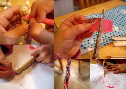 how to make a peg doll fine motor skills