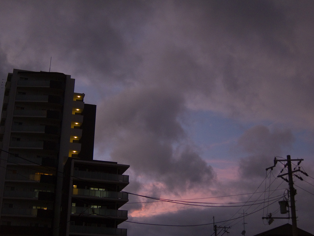 the dusk after the typhoon
