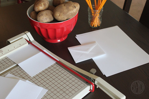 cutting card stock