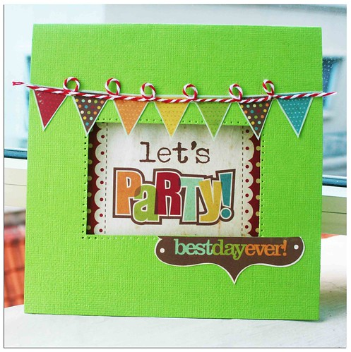 Let's party card front