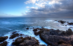 At Pigeon Point (Cody Schroeder) Tags: ocean california water weather clouds canon point rocks waves mark pigeon ii 5d 1740mm hdr f4l