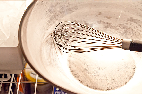 Chilled bowl and whisk