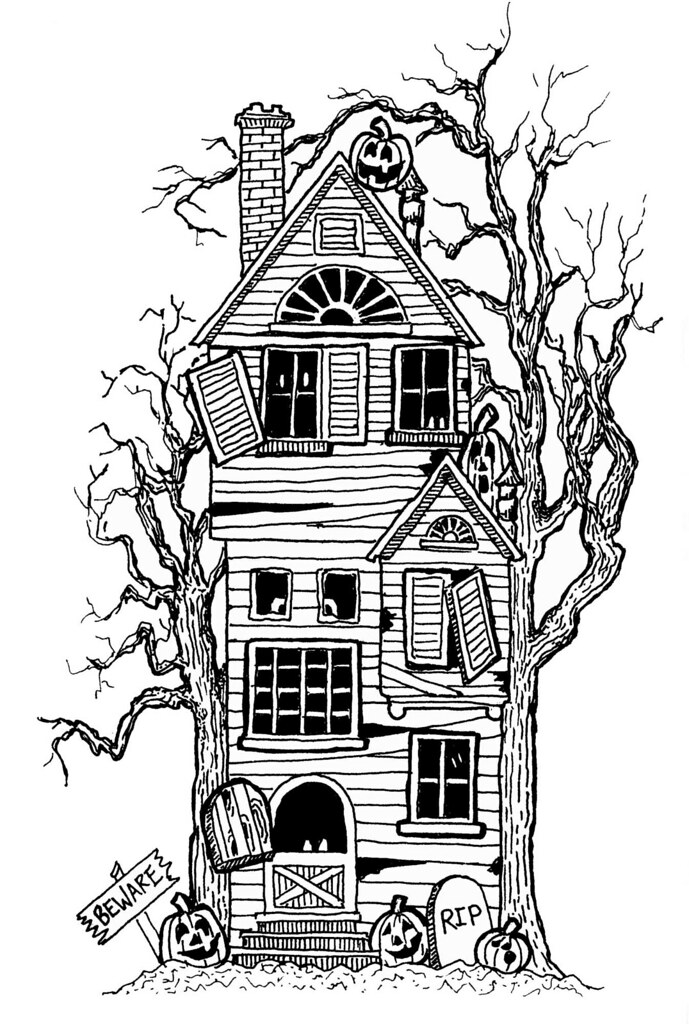 House Drawing Color: My Childhood Halloween Memories: Inspired This Haunted