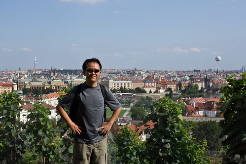 View of Prague from Prague Castle complex