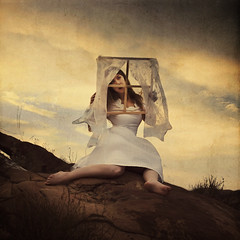 dirty window (brookeshaden) Tags: window trapped wind surrealism curtains whimsical fineartphotography whitedress brookeshaden texturebylesbrumes iwantedthetexturetoappearasdirtonawindowpane