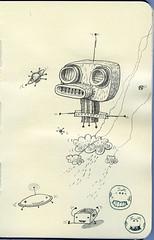 Moleskine Doodles (jimbradshaw) Tags: art moleskine pencil sketch drawing totem doodle characters monsters jimbradshaw