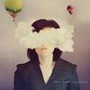 No quiero verte. (Lunayda) Tags: portrait cloud girl 50mm nikon air magic balloon series dnash