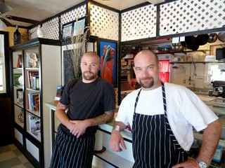 Michael Hite and Paul Becking of C Street Bistro, Jacksonville, Oregon