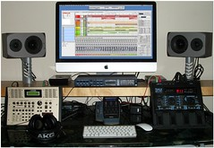 (2011) RECORDING EQUIPMENT (andrew pilling) Tags: boss music guitars fender roland line6 workstation motu recording daw digitalmusic guitarrig recordingequipment guitarsynths
