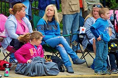 Over here. Over there. (-Jeffrey-) Tags: blue girls boy woman hot cute girl female hair nikon long boots gorgeous watching parade september jeans teen blond blanket blonde torn ponytail delaware viewing firefighters dover stinkeye 2011 delawareonline d5000 stateofdelaware