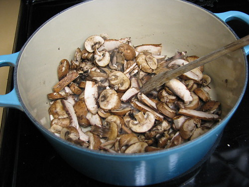mushrooms cooking