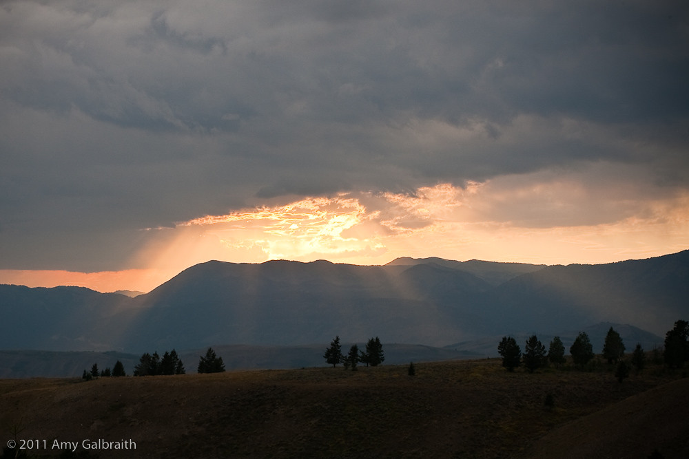 View of Teton Pass at Sunset
