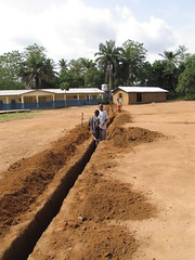 digging trench for water line