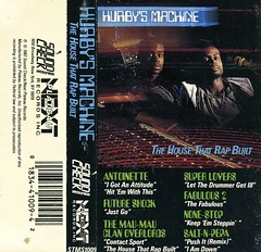Hurby's Machine (Wires In The Walls) Tags: 1987 tape scanned antoinette hiphop rap 1980s casette insert saltnpepa futureshock superlovers jcard nonestop nextplateaurecords soundcheckrecords hurbyluvbug themaumauclanoverlords fabulous2 thehousethatrapbuilt