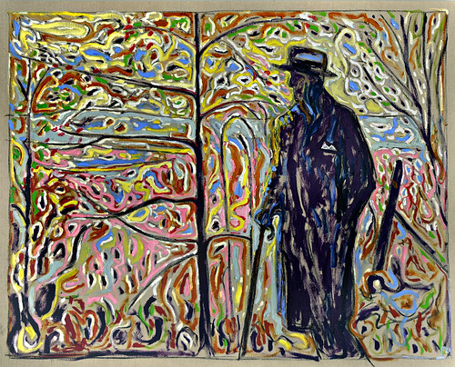 22 - Billy_Childish_Sibelius_Amongst_Saplings_2010_152x122cm_Oil_and_charcoal_on_linen  by The Future Tense