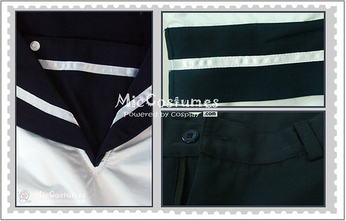 Axis Powers Hetalia Sealand Cosplay Costume_2
