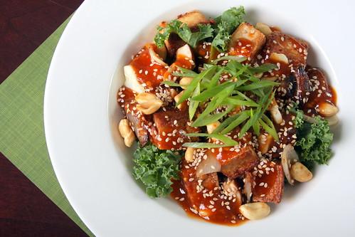 Sriracha and Peanut Butter Tofu