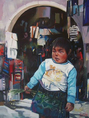 Mexican Child - Painting - Realism