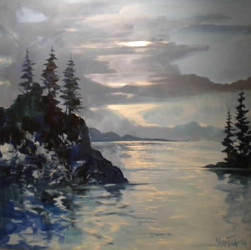 Serenity, Stanley Park - Painting - Impressionism
