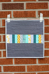 Stripey Logcabin (Jeni Baker) Tags: modern quilt handmade sewing quilting stitching block quilts crafting