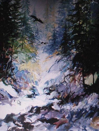 Capilano Canyon - Painting - Impressionism