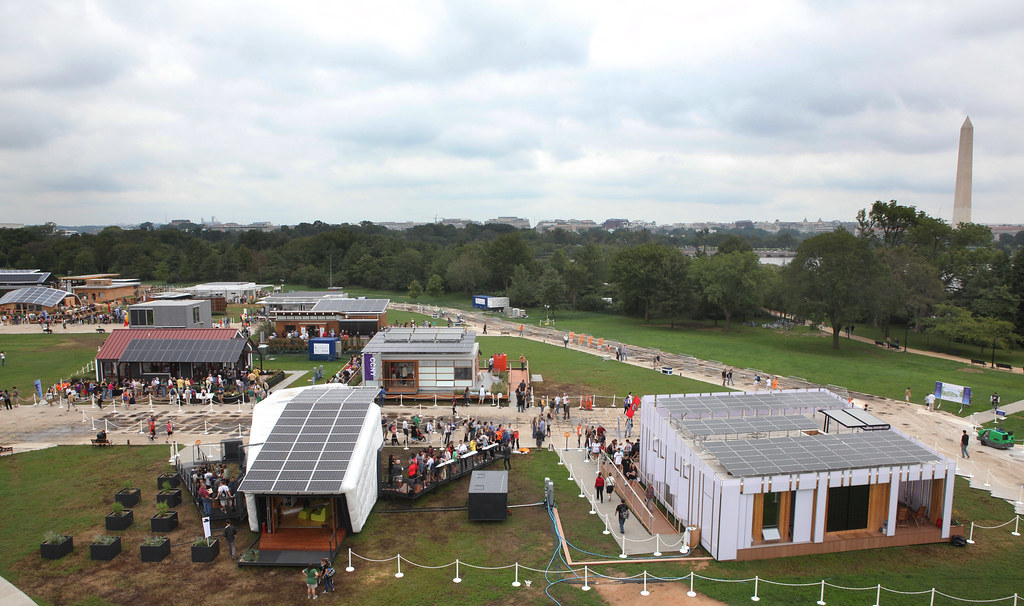 Washington Monument Behind the Solar Village