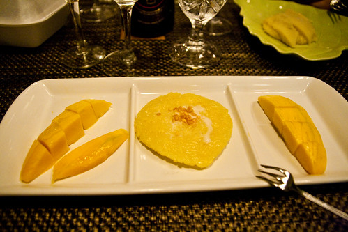 Sticky Rice with Mango at Thai Suan Thip