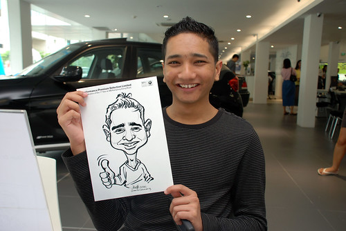 Caricature live sketching for Performance Premium Selection first year anniversary - day 3 - 1