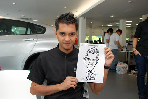Caricature live sketching for Performance Premium Selection first year anniversary - day 4 - 6