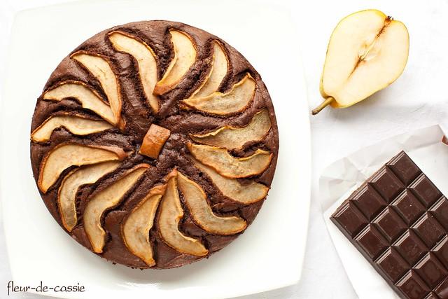 пирог шоколадно-грушевый 2