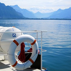 ship ahoy (Riex) Tags: lake switzerland boat suisse lac steamboat bateau leman paddleboat steamer buoy vaud cgn bouee lasuisse s95 bateauavapeur canonpowershots95