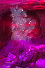 IMGP0812 (ectro) Tags: orange bottle scary alone doubleexposure magenta violet cave 24mm lensless rebar interferencepatterns sooc