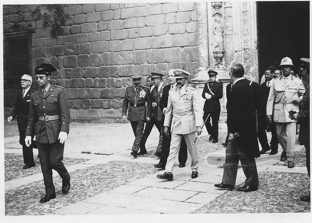 El emperador de Etiopia Haile Selassie I visita Toledo en abril de 1971. Fotografía de Eduardo Butragueño Bueno