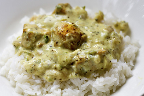 basil curry chicken