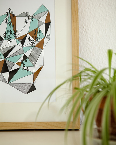 Geometric mountain print II