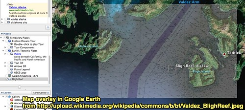 Google Earth Map Overlay of Bligh Reef