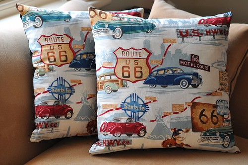 Route 66 cushions