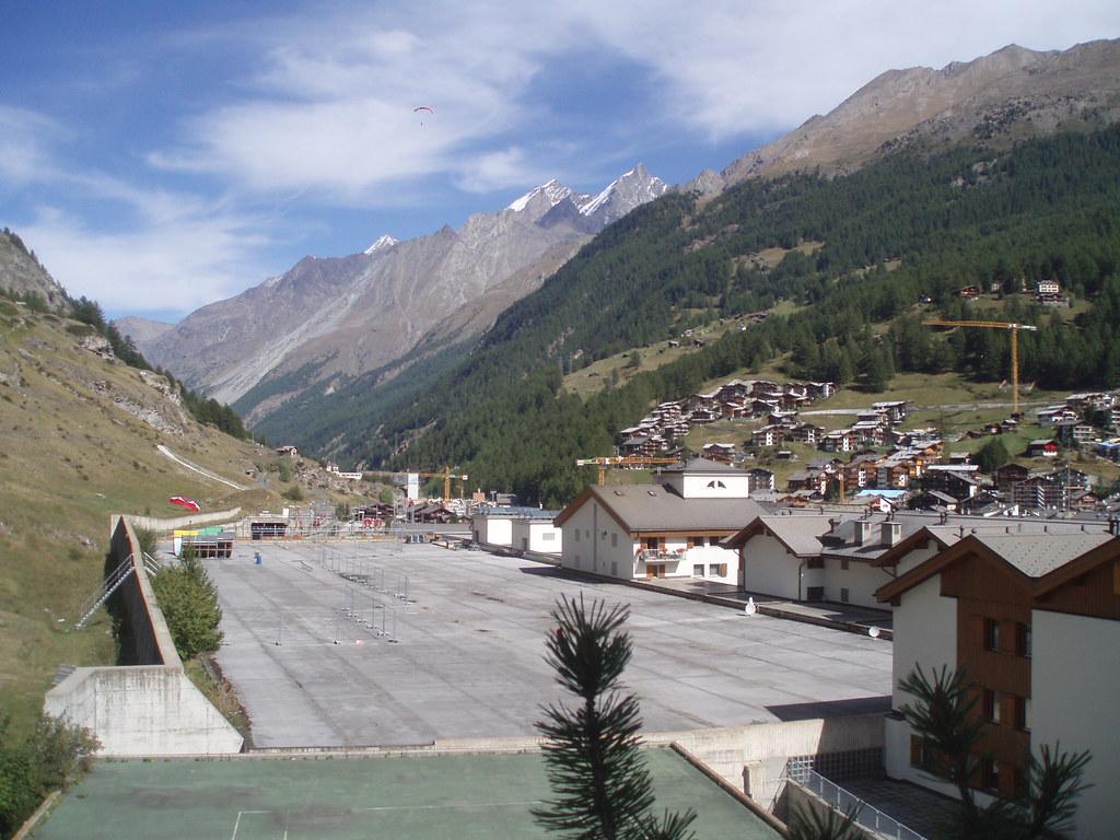 Udsigt fra Hotel Alex i Zermatt