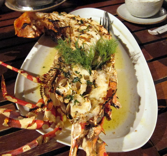 Grilled Lobster with White Wine