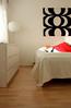 White bedroom with a touch of Marimekko (polaroidized) Tags: white ikea home finland design bright furniture interior canvas finnish pillowcase marimekko malm vaasa