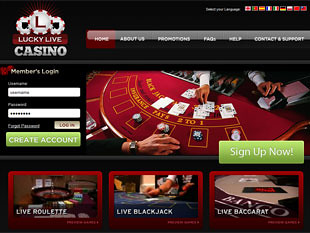 Lucky Live Casino Home