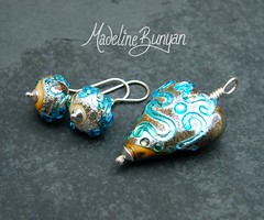 """Luscious Lava Heart Pendant and Earrings • <a style=""""font-size:0.8em;"""" href=""""https://www.flickr.com/photos/37516896@N05/6194939692/"""" target=""""_blank"""">View on Flickr</a>"""