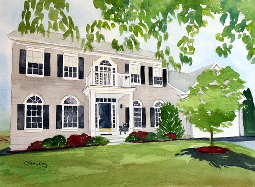 House Portrait in Watercolor