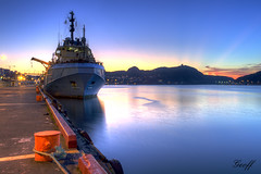 St. John's Harbour (gwhiteway) Tags: travel canada tourism sunrise newfoundland harbor ship harbour stjohns vessel nl supply autofocus mygearandme